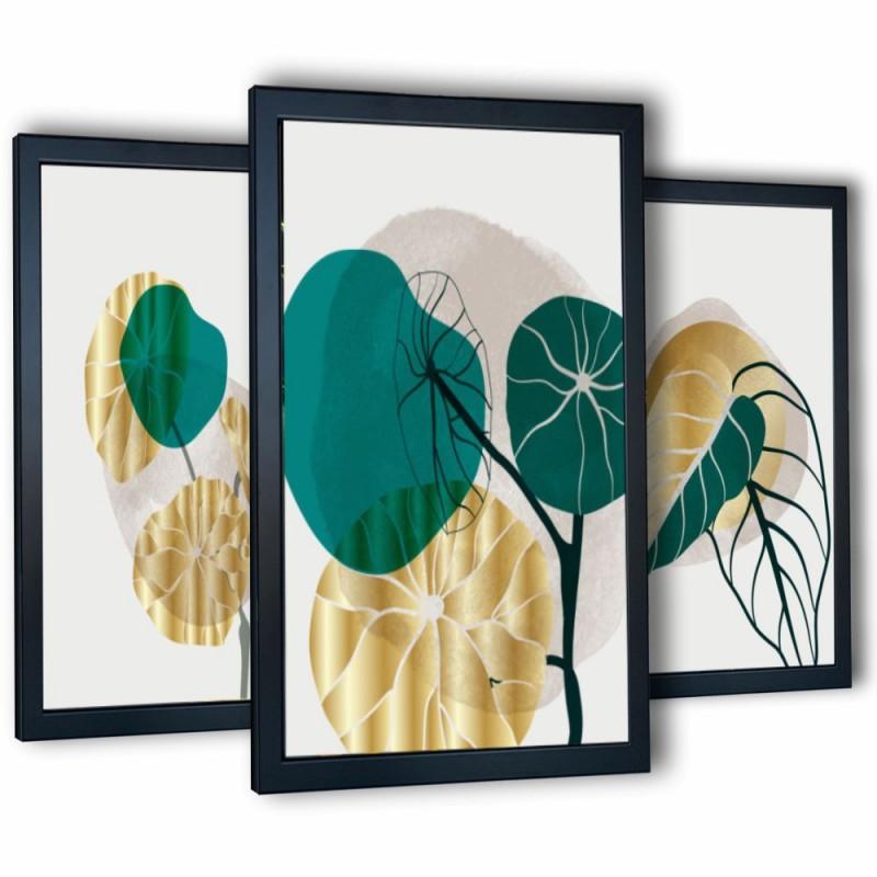 3 obrazy w ramach abstrakcja-2 99x43 cm