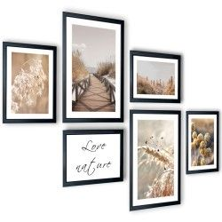 Galeria 6 szt obrazów w ramach Suche Trawy 205x91
