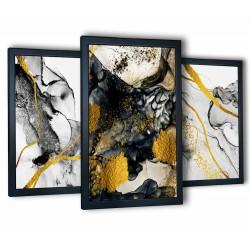 abstrakcja czarno-złota czarne ramy